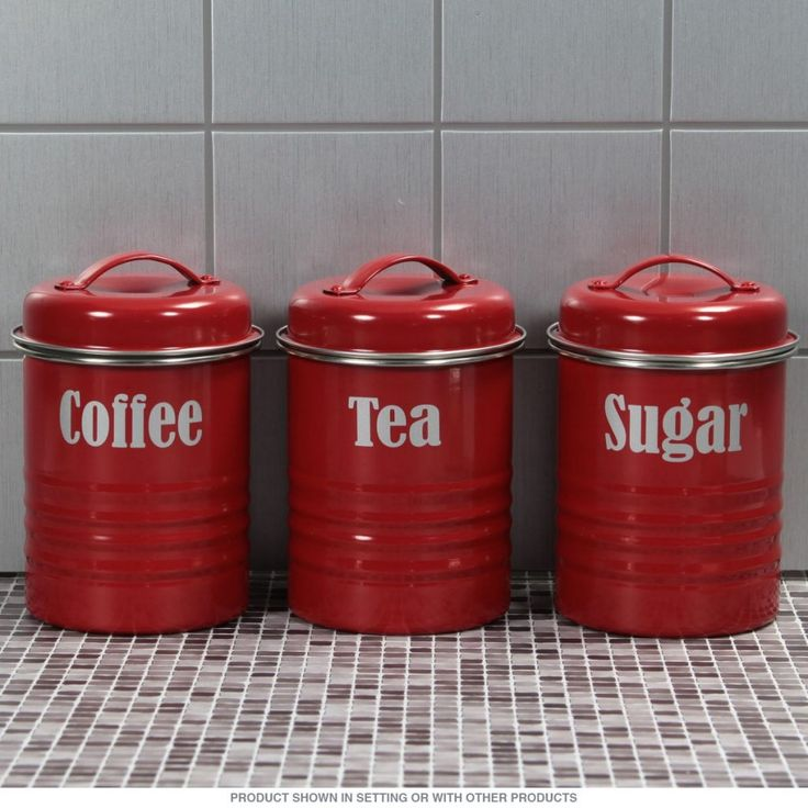 Red Canister Sets Kitchen
