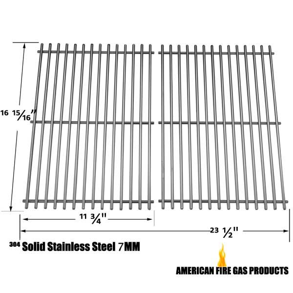 2 PACK STAINLESS STEEL COOKING GRID FOR GRILL ZONE 810-4415-T, BRINKMANN 2500, 2500 PRO SERIES GAS GRILL MODELS Fits Compatible Grill Zone Models : 810-4415-T, 810-6650-T, 810-6670-T Read More @http://www.grillpartszone.com/shopexd.asp?id=34731&sid=17429