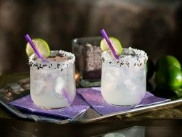serve lavender margaritas at your cinco de mayo for a new take on the classic margarita- (2 oz. silver tequila, 1/2 oz. Cointreau, 1 oz. lavender, simple syrup, 1/2 lime, sugar, dried lavender) #margarita full recipe on cookingchanneltv.com