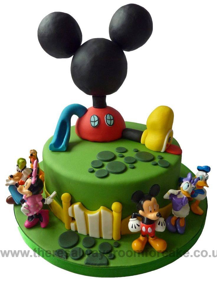 Mickey Mouse Club House Birthday Cake