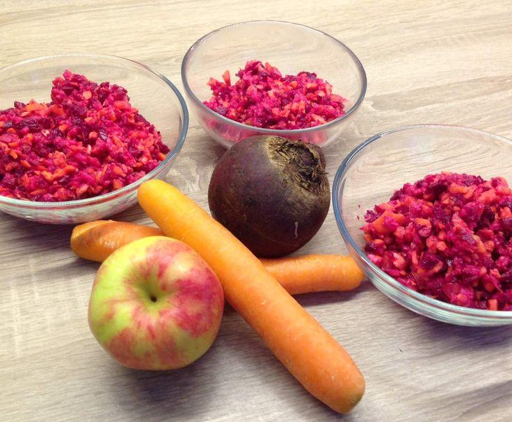 Rezept Rote Bete-Möhren-Apfel-Rohkost - Rezept des Tages vom 9. 11. 2015 von hugfisch - Rezept der Kategorie Vorspeisen/Salate