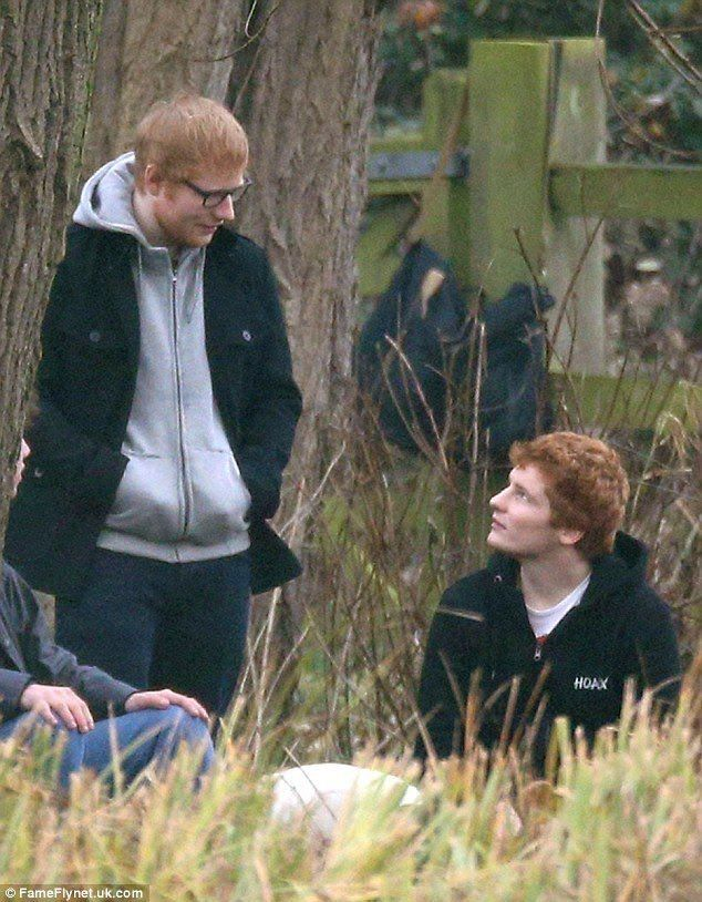 Ed on the scene of his new music video for 2017