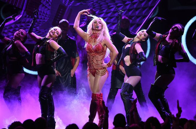 Britney Spears performs onstage during the 2016 Billboard Music Awards at T-Mobile Arena on May 22, 2016 in Las Vegas. KEVIN WINTER/GETTY IMAGES VIA ABC
