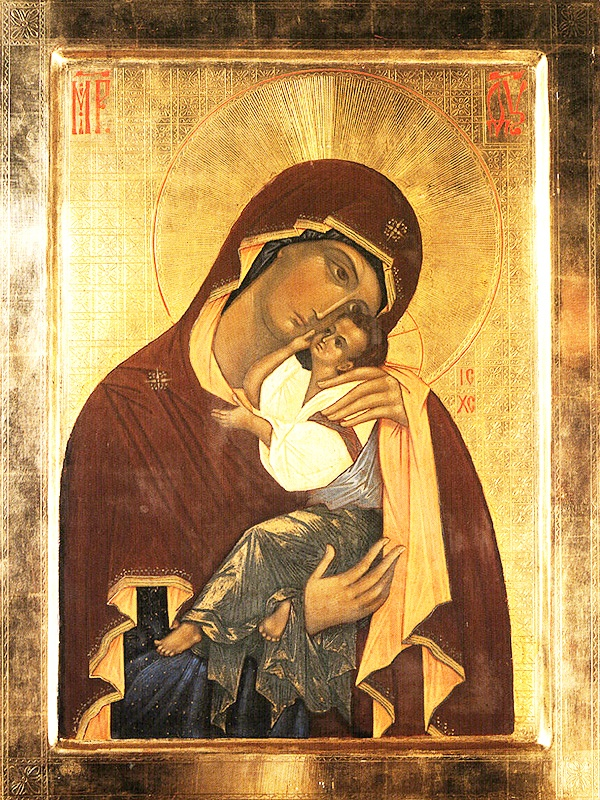 """Written in 1521, the Holy """"Tenderness"""" icon of the MostHoly Mother of God of Pskov, Ukraine, was glorified by miraculous healings in 1524. In 1812, prayers to the icon helped the region escape Napoleon's invasion. (Jun 3 Oct 7)"""