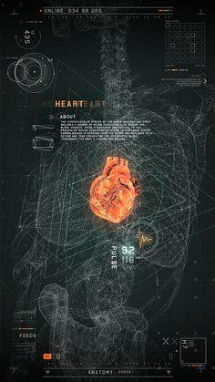 #2RISE FUTURISTIC MEDICAL INTERFACE by 2RISE, via Behance