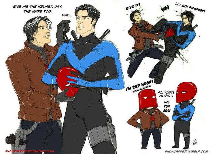 Jason Todd And Dick Grayson Omg Nightwing and Red ...