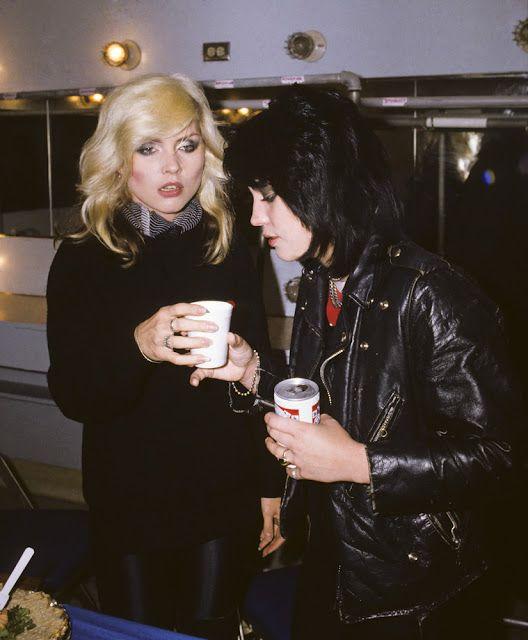 Deborah Harry and Joan Jett, uncredited / Punk ROCK.... Joan deserves her seat at the banquet, yeah?   YEAHHHHH!