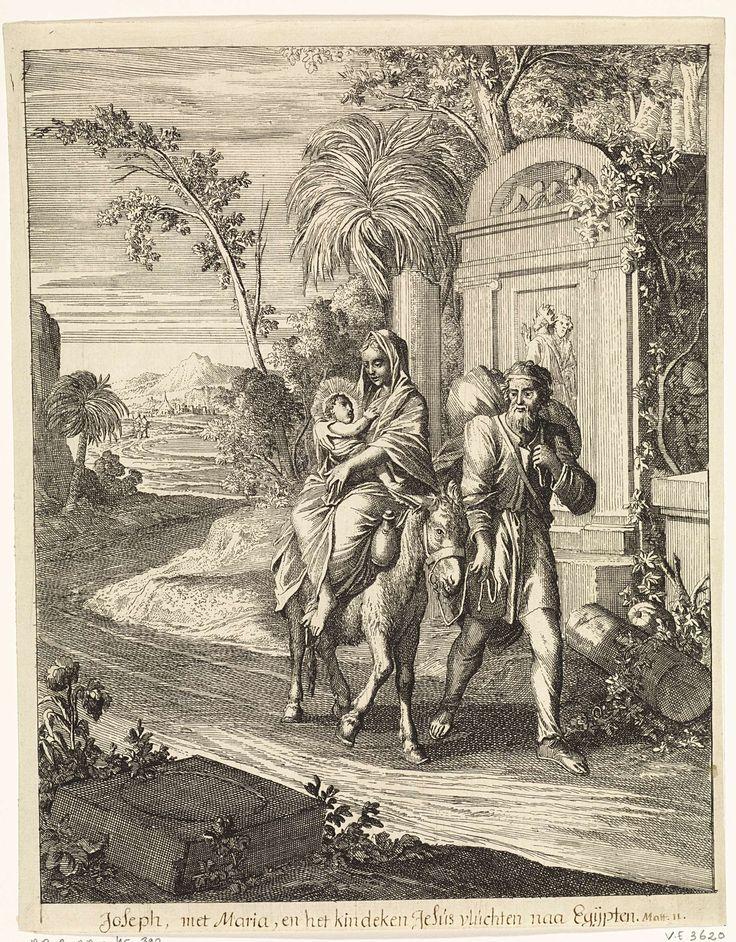 Caspar Luyken | Vlucht naar Egypte, Caspar Luyken, Christoph Weigel, 1708 |
