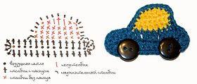 Carro de crochê para aplicação