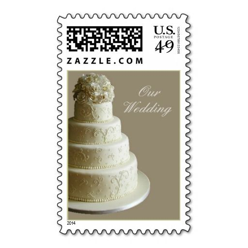 Cream Wedding Cake Stamps