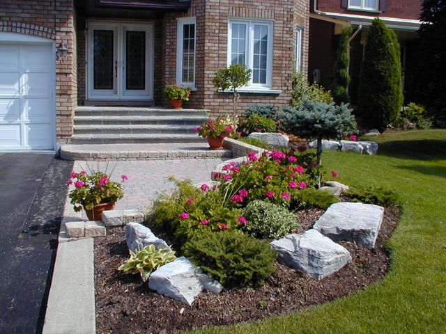 Front Yard idea - pavers and curvy grass
