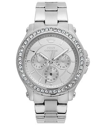 Juicy Couture Watch, Women's Pedigree Stainless Steel Bracelet 38mm 1901048 - Women's Watches - Jewelry & Watches - Macy's