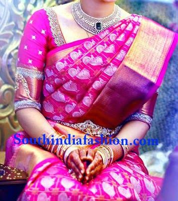 Top 10 Blouse Designs for Wedding Silk Sarees ~ Celebrity Sarees, Designer Sarees, Bridal Sarees, Latest Blouse Designs 2014