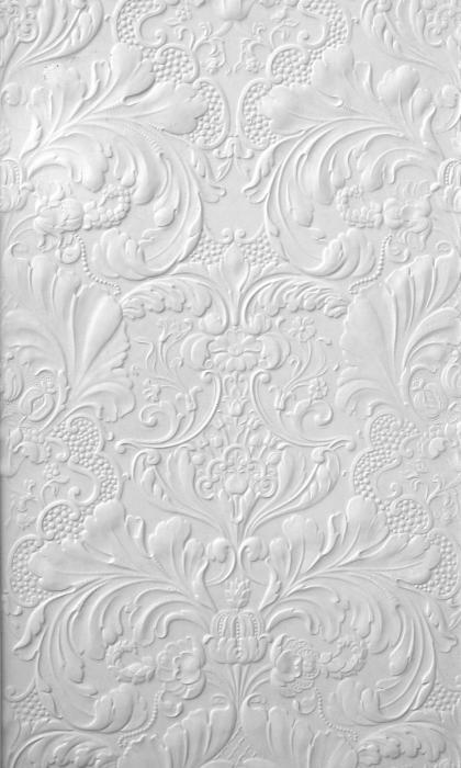 Lincrusta Italian Renaissance RD1952 - powder room wallpaper, white
