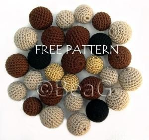 Pattern for Crocheted Beads (Patroon voor Gehaakte Kralen) by Made by BeaG, via Flickr by marquita