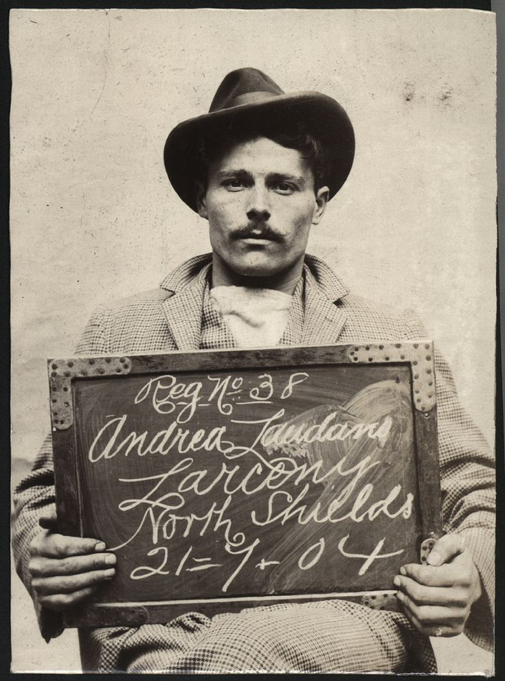 https://flic.kr/p/b6Js9V | Andrea Laudano | Name: Andrea Laudano Arrested for: Larceny Arrested at: North Shields Police Station Arrested on: 21st July 1904 Tyne and Wear Archives ref: DX1388-1-63-Andrea Laudano  These images are a selection from an album of photographs of prisoners brought before the North Shields Police Court between 1902 and 1916 in the collection of Tyne & Wear Archives (TWA ref DX1388/1).  Copyright) We're happy for you to share this digital image within the spirit ...