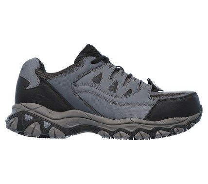 Skechers Work Men's Holdredge Memory Foam Steel Toe Work Shoes (Gray/Black) - 10.5 M