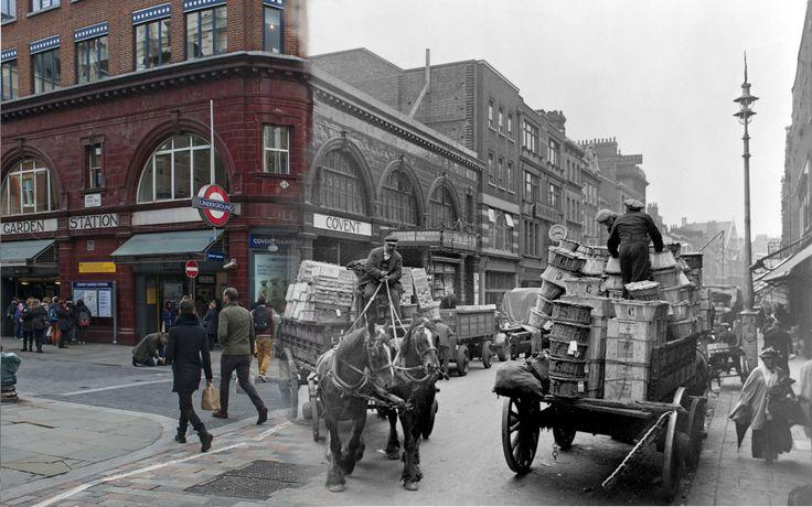 Londres antes y ahora Covent Garden