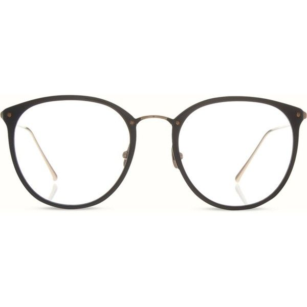 LINDA FARROW Limited edition LFL251 round optical glasses (€560) ❤ liked on Polyvore