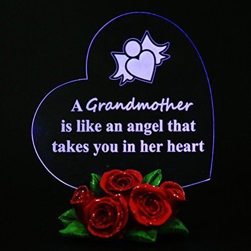 Led Glass Heart for Grandma MOTHER IN LAW Best Gift For Grandmother birthday #Giftgarden
