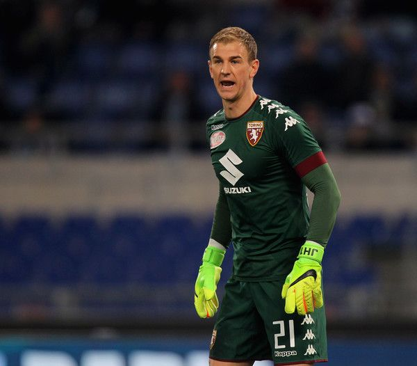 FC Torino goalkeeper Joe Hart reacts during the Serie A match between SS Lazio and FC Torino at Stadio Olimpico on March 13, 2017 in Rome, Italy.