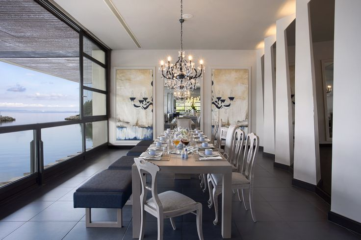 Abstract themes , chandeliers and crystal lights are all inspired and painted in harmony with the restaurant's furniture and lights, contributing to the unique atmosphere! Artist: Manuela Pal…