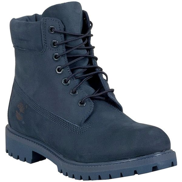 Timberland Men's 6-Inch Premium Waterproof Lace Up Boot ($200) ❤ liked on Polyvore featuring men's fashion, men's shoes, men's boots, men's work boots, shoes, male clothes, navy, mens boots, mens water proof boots and mens fur lined boots