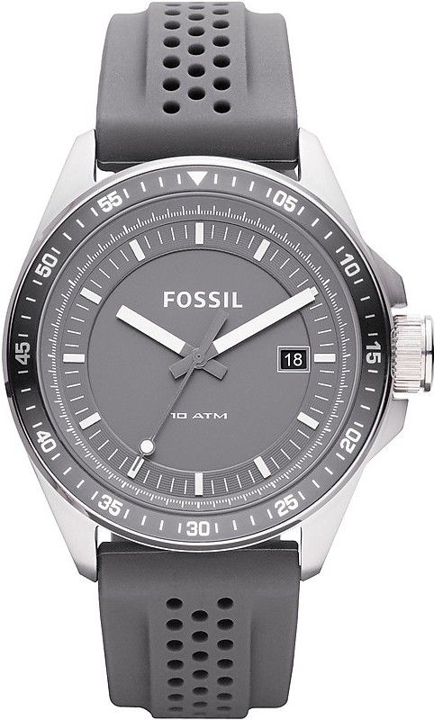 Fossil Men's AM4387 Stainless Steel Analog Grey Dial Watch