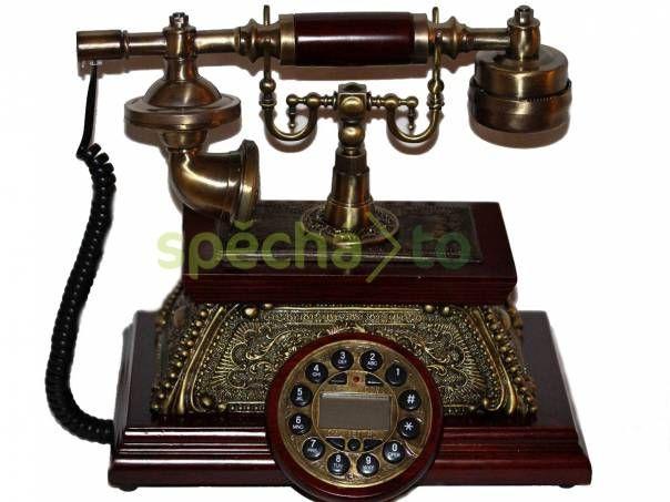 Dřevěný telefon v retro stylu, foto 1 Hobby, volný čas, Sběratelství a starožitnosti | spěcháto.cz - bazar, inzerce zdarma