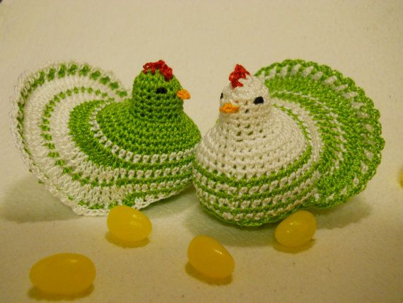 These adorable egg warmers or cozies are surprisingly quick to make and are just the right touch for your Easter basket or table. Sized to fit medium or large chicken eggs, they use only a little thread or yarn and can be made in a couple of hours tops.    This listing is for the pattern only, not the completed item    10MB or less PDF available on Etsy once your payment clears - Just go to your account Purchases page and look for the download button.    This pattern is my own creation and…