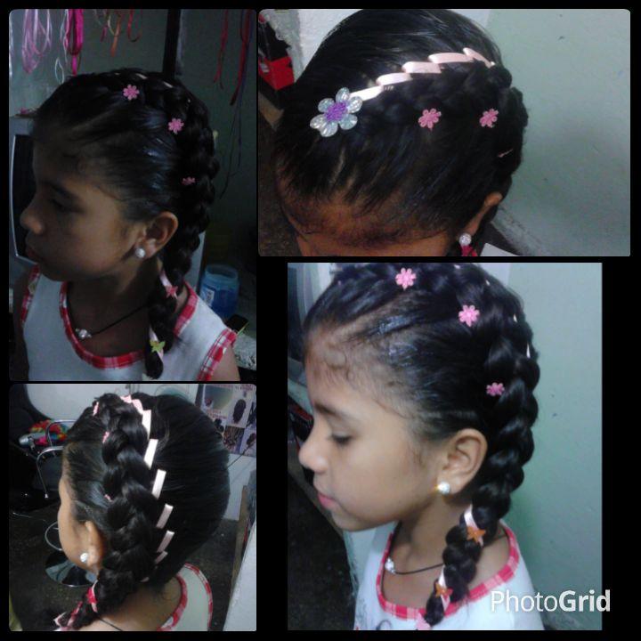 17 best images about peinados con cintas on pinterest - Trenzas para nina ...