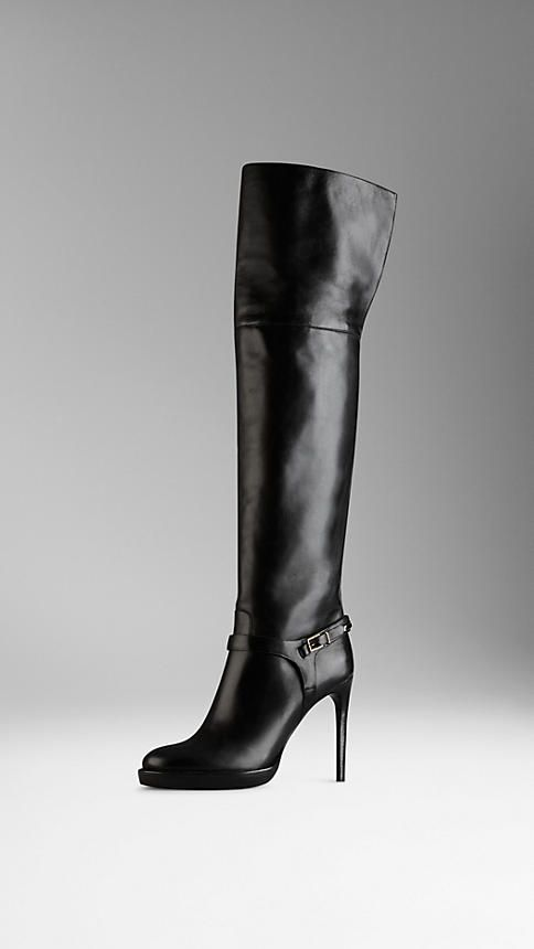 #Burberry Buckle Detail Over-The-Knee Boots $1,619 #Shoes #Heels