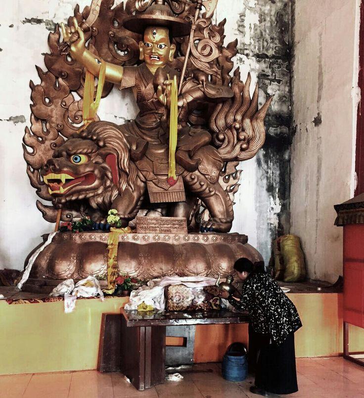#dorje #shugden statue #gonsar #monastery #tibet