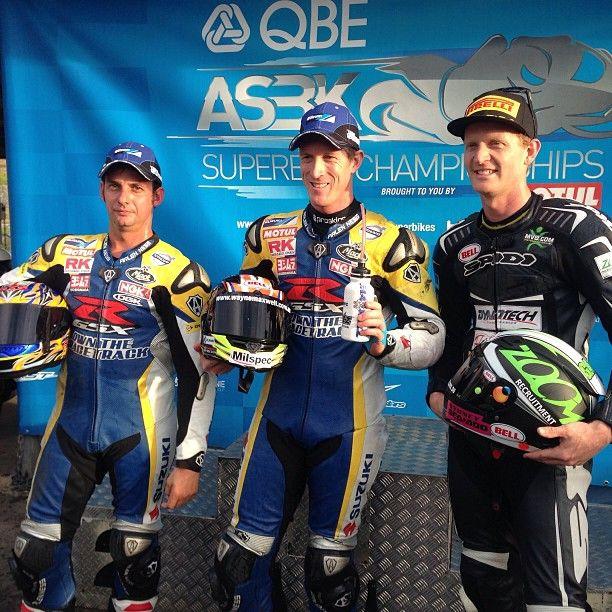 ASBK - 2013 Round 5, Wayne Maxwell, Robert Bugden And Glenn Allerton