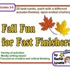 Here are 20 FREE autumn-themed task cards that will work perfectly at a center or for any student who finishes his or her work early. For a library center, include fiction and non-fiction books about autumn at your center! Each card features...