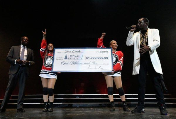 Sean Diddy Combs  Donates $1 Million to Howard University