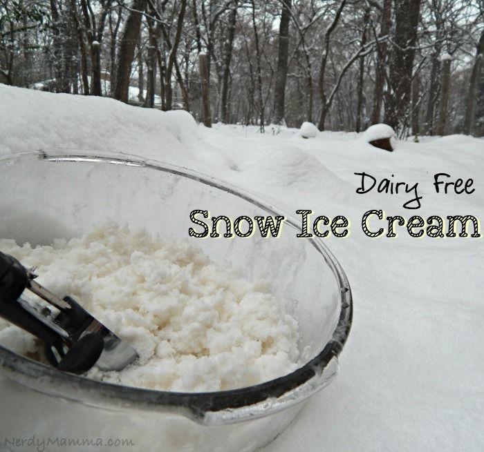 Dairy Free Snow Ice Cream Recipe