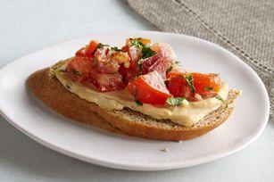 Bacon and Tomato Bruschetta recipe - Healthy Living app idea