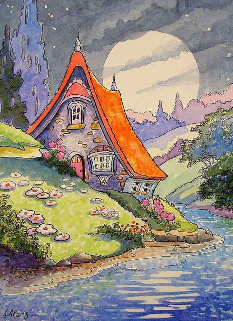 Under a Summer Moon Storybook Cottage Series | by cottagelover1953
