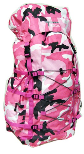Pink Camo Large Backpack Camping 3200 Cu In Camouflage Big Hike Hiking NEW Pack