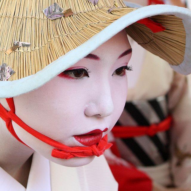 geisha, Kyoto: Natural Skin, Skin Care, Faces, Geishas, Straws Hats, Japan Beautiful, Portraits, People, Sun Hats