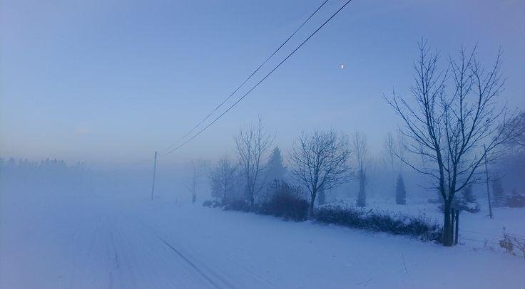On the way home ❤️ #torshälla #winter #sweden