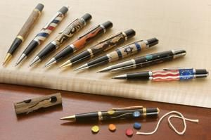 Advanced Pen Turning: New Laser-Cut Inlay Kits Make You a Star Turner! / Rockler How-to