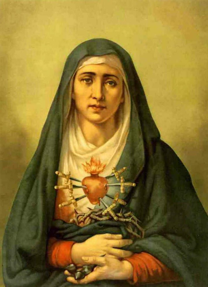 One of my favorite aspects of the Blessed Virgin is her sorrow, for us, for the sufferings of her Son, for the terrible state of the world, and much more. [UPDATE: OOPS! I was reposting this from …