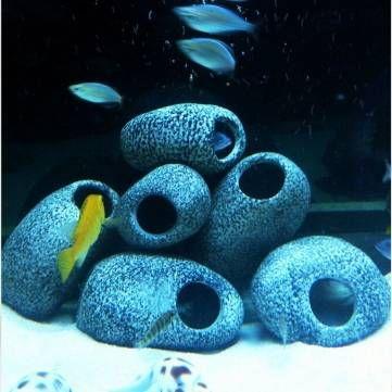 Only US$4.29 , shop  Aquarium Cichlid Stones Ceramic Rock Cave Ornament Cichlid Stones Fish Tank Cichlid Stones Decorati at Banggood.com. Buy fashion Aquarium Accessories online.