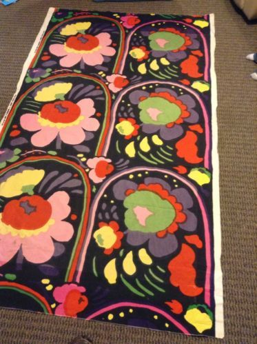 "Vintage Marimekko by Suomi Fabric 1973 Finland Katsuji Wakisaka ""Karuselli"" | eBay"