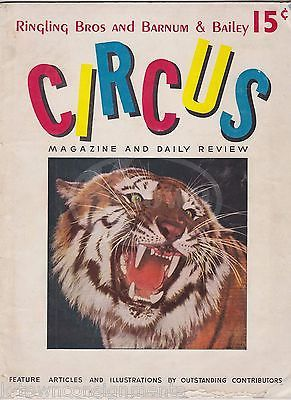 RINGLING BROS BARNUM & BAILEY CIRCUS MAGAZINE & DAILY REVIEW ILLUSTRATED 1941