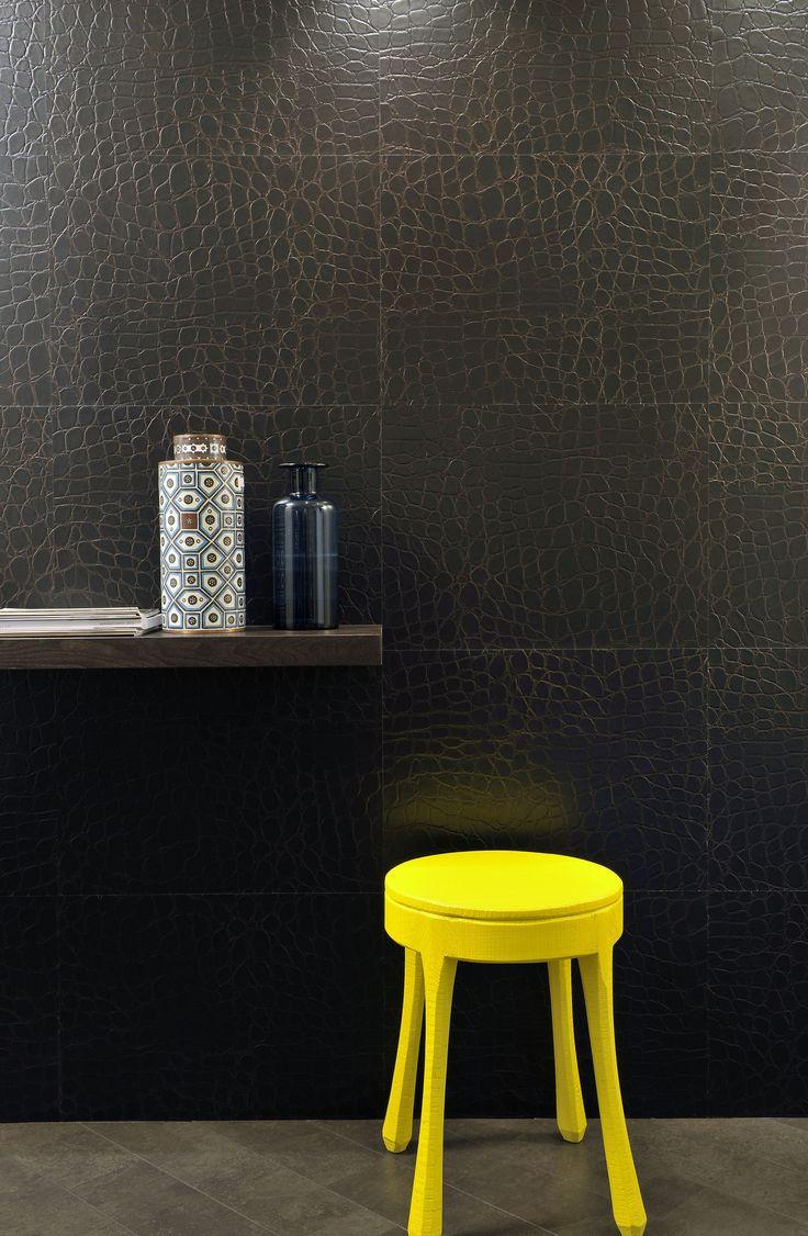 Met de Leather Cork-wandtegels van Santana straalt je interieur een en al luxe uit. #kurk #wand #leer
