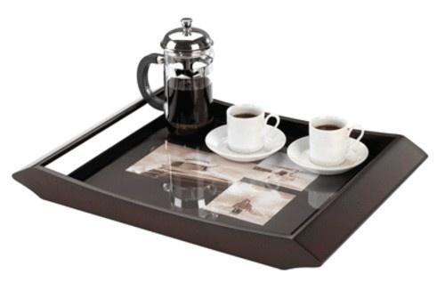 Práctico regalo! para sorprender con el desayuno en la cama! Bandeja de madera para poner tus fotos.