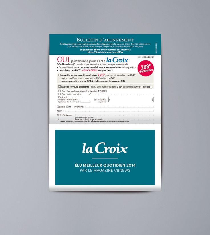 Ynfluence - Création marketing direct pour La Croix